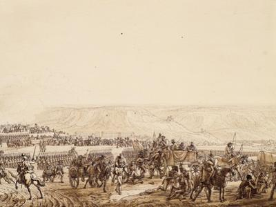 Evacuation of Wounded, Detail, from Battle of Jena, October 14, 1806
