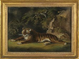 Tiger in a Jungle Landscape by Benjamin Zobel