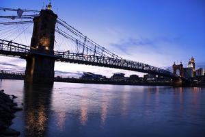 Historic Bridge in Cincinnati by benkrut