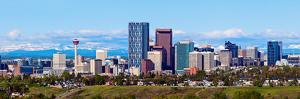 Panorama of Calgary and Rocky Mountains by benkrut
