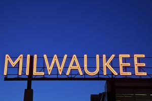 Red Milwaukee Sign by benkrut