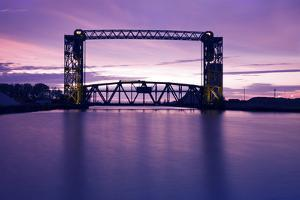 Sunset, Bridge and Two Lighthouses by benkrut