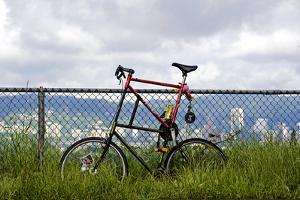 A Curious Bike on Mt. Tabor, Portland Oregon by Bennett Barthelemy