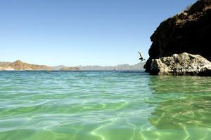 A Man Jumps into a Bay Near Loreto, Baja Sur, Mexico by Bennett Barthelemy