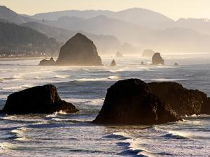 Cannon Beach Seen from Ecola State Park, Oregon. by Bennett Barthelemy