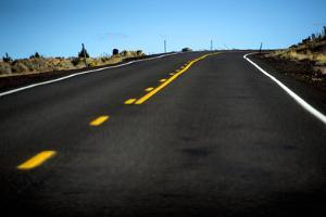Lonely Highway 97, Central Oregon by Bennett Barthelemy