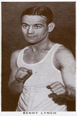 Benny Lynch, Scottish Boxer, 1938