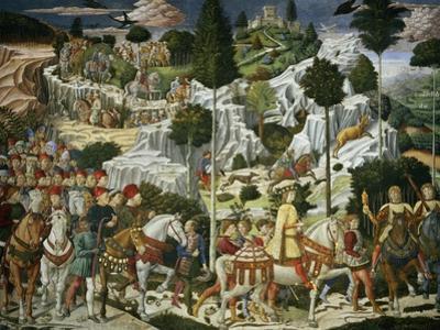 The Journey of the Magi to Bethlehem, the Right Hand Wall of the Chapel, circa 1460 by Benozzo di Lese di Sandro Gozzoli