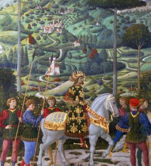 Procession of the Magi: Wall with Emperor John VII Paleologus by Benozzo Gozzoli