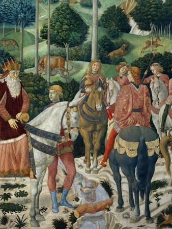 Procession of the Magi: Wall with Giuliano, detail (The Patriarch of Constantinople) by Benozzo Gozzoli