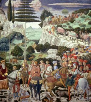 Procession of the Magi: Wall with Giuliano by Benozzo Gozzoli