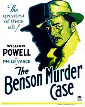 Benson Murder Case, William Powell on Window Card, 1930