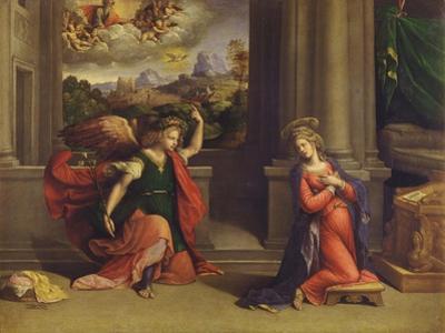 Annunciation by Benvenuto Tisi Da Garofalo
