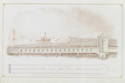 Longitudinal Section of Thames Tunnel, 1826