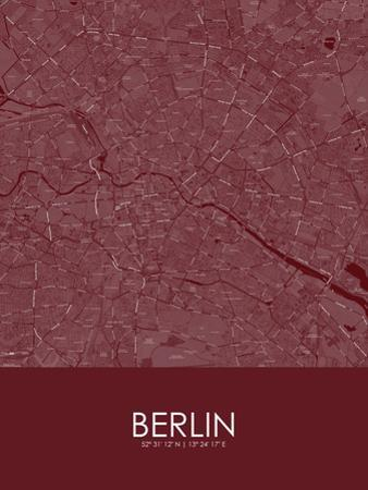 Berlin, Germany Red Map