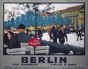 Berlin via Harwich twice a day, LNER, c.1925