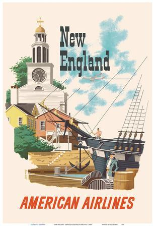 New England, United States - American Airlines