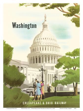 Washington, D.C. - Chesapeake & Ohio Railway - United States Capitol Building