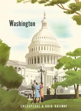 Washington, D.C. - Chesapeake & Ohio Railway - United States Capitol Building by Bern Hill