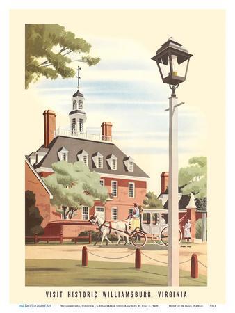 Williamsburg, Virginia - Governor's Palace - Chesapeake & Ohio Railways