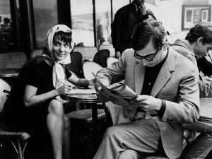 Bernadette Lafont and Claude Chabrol sur le tournage du film Les Godelureaux by ClaudeChabrol, 1961