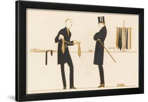 Gentleman Chooses a Tie to Purchase by Bernard Boutet De Monvel