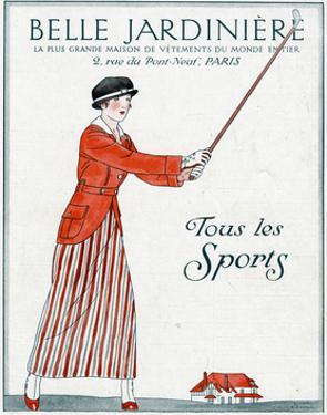 Lady Golfer 1914 by Bernard Boutet De Monvel