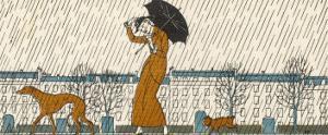Rain or Fine Dogs Must be Taken for Their Walk by Bernard Boutet De Monvel