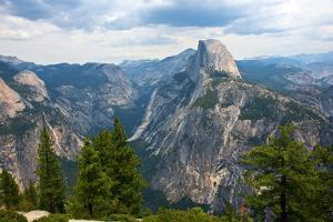 California, Yosemite National Park, Half Dome, North Dome and Mount Watkins by Bernard Friel