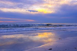 Florida, Sarasota, Crescent Beach, Siesta Key, Sunset over Ocean by Bernard Friel