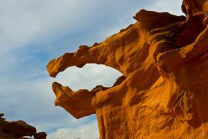 Nevada. Mesquite. Gold Butte National Monument, Little Finland Red Rock Sculptures, The Salmon Jaw by Bernard Friel
