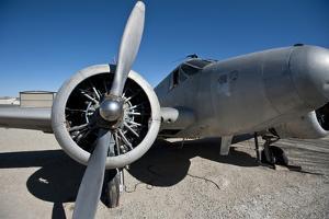 Nevada, Yerington, Twin Beech Display at Yerington Municipal Airport by Bernard Friel