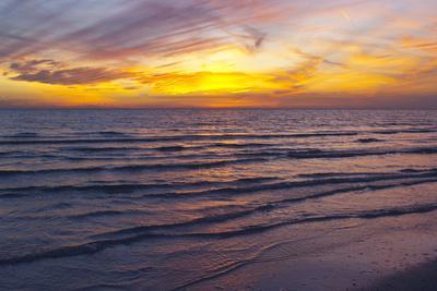 Sunset on Crescent Beach, Siesta Key, Sarasota, Florida, USA