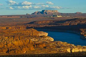 USA, Arizona, Page, Lake Powell Vistas, Navajo Generating Station. by Bernard Friel