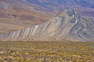 USA, California, Death Valley National Park, Butte Valley Road, Striped Butte by Bernard Friel