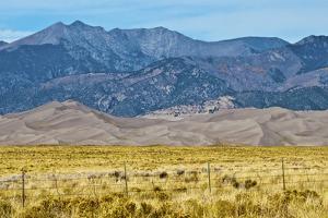 USA, Colorado, Alamosa, Great Sand Dunes National Park and Preserve by Bernard Friel