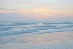 USA, Florida, Sarasota. Siesta Key, Sunset Reflections by Bernard Friel