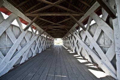 USA, Iowa, St. Charles, Imes Covered Bridge by Bernard Friel