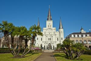 USA, Louisiana, New Orleans, French Quarter, Jackson Square, Saint Louis Cathedral by Bernard Friel