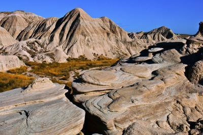 USA, Nebraska, Crawford, Toadstool Geologic Park, Swirling Rock Patterns by Bernard Friel