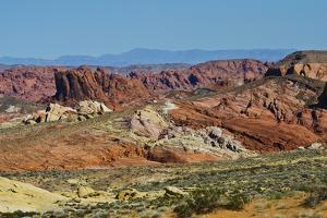 USA, Nevada. Valley of Fire State Park, Mouse's Tank Road looking north by Bernard Friel