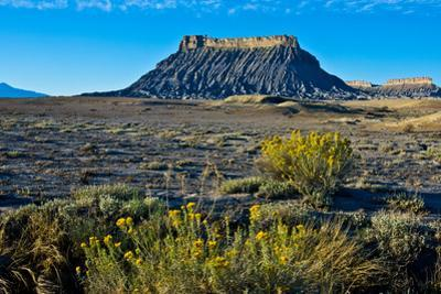 USA, Utah, Caineville, Factory Butte from Coal Mine Road by Bernard Friel
