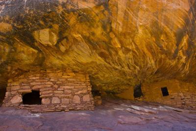 USA, Utah, Cedar Mesa, Bears Ears National Monument, Anasazi House of Fire Ruins by Bernard Friel