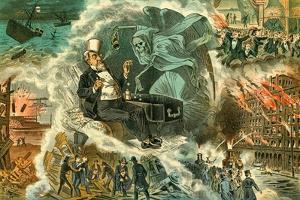 Gambling with Death, 1883 by Bernard Gillam