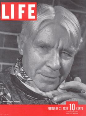 Poet Carl Sandburg, February 21, 1938 by Bernard Hoffman