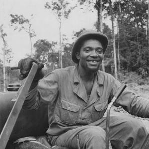 Portrait of Us Army Driver Earlie Colbert (From Maryland), Ledo Road, Burma, July 1944 by Bernard Hoffman