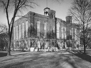 The Exterior of a Buliding on the Campus of Knox College by Bernard Hoffman