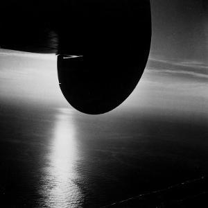 Wing of Plane Showing Above the Atlantic Ocean as Seen from a Pan Am Clipper by Bernard Hoffman