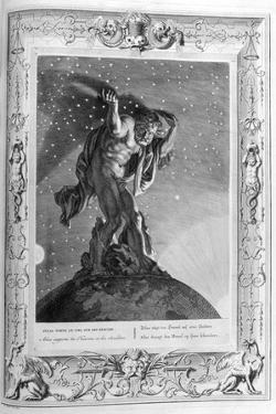 Atlas Supports the Heavens on His Shoulders, 1733 by Bernard Picart