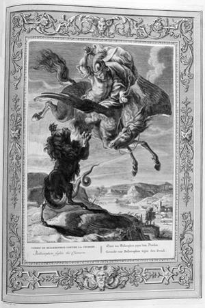 Bellerophon Fights the Chimera, 1733 by Bernard Picart